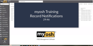 myosh Training Records Notifications